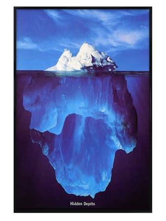 gloss black framed iceberg hidden depths poster buy