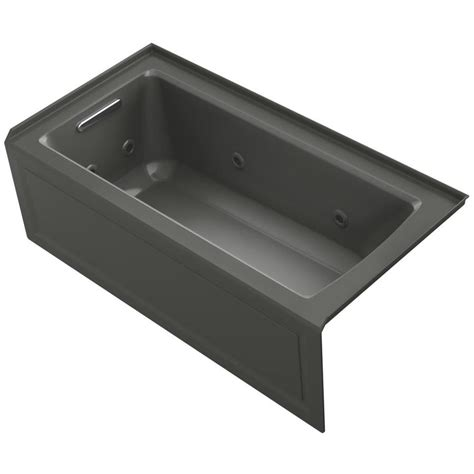 60 x 30 acrylic bathtub shop kohler archer thunder grey acrylic rectangular alcove