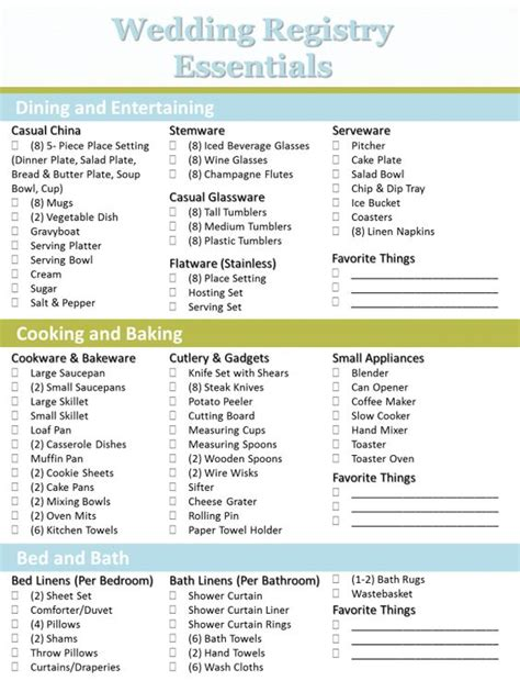 Wedding Registry Ideas List by Crafting The Bridal Registry Wedding Registry