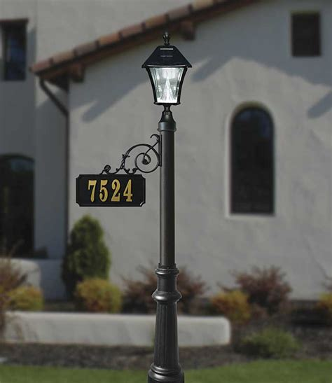 light post with address sign scroll mount address post with decorative base