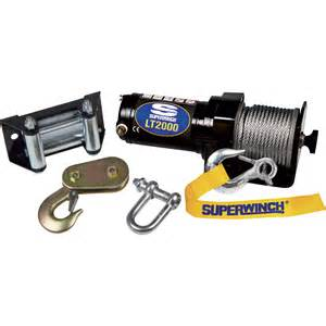 superwinch 12 volt dc powered electric atv winch 2000 lb