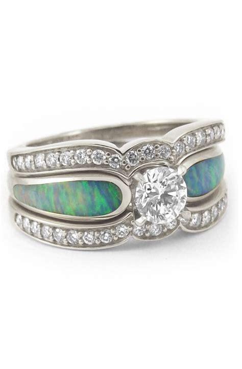 beautiful australian opal engagement ring