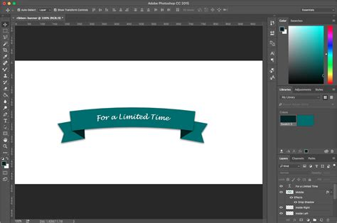 design banner photoshop photoshop tutorial how to create a ribbon banner