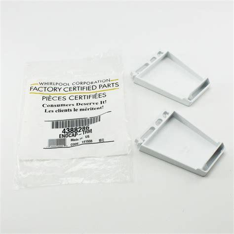 Shelf End Caps by 4388286 For Whirlpool Refrigerator Door Shelf End Caps Ebay