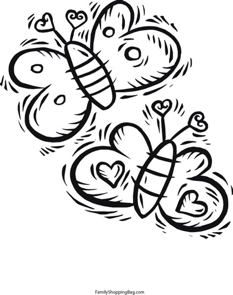 coloring pages of butterflies and hearts free coloring pages of heart and butterfly