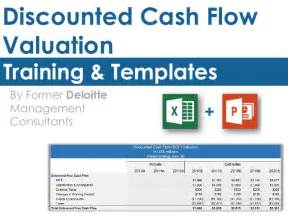 discounted flow excel template discounted flow valuation template