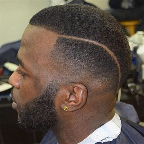 parted haircut male dark 50 stylish fade haircuts for black men in 2018
