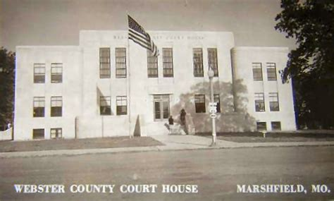 Marshfield Post Office by Webster County Court House