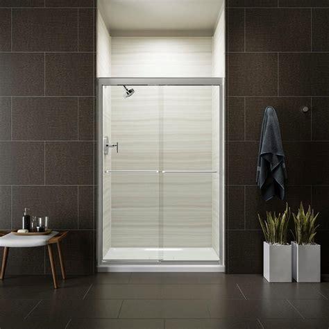 8 x 5 sliding doors kohler fluence 47 5 8 in x 70 5 16 in semi frameless