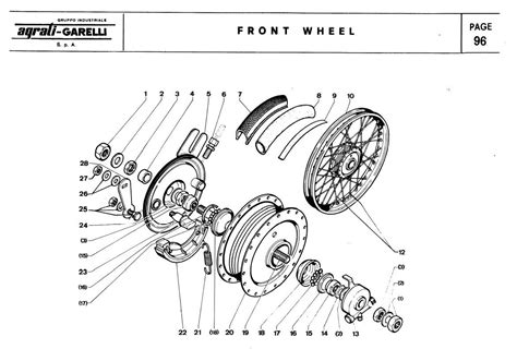 wheel parts diagram index of 1976 garelli moped parts