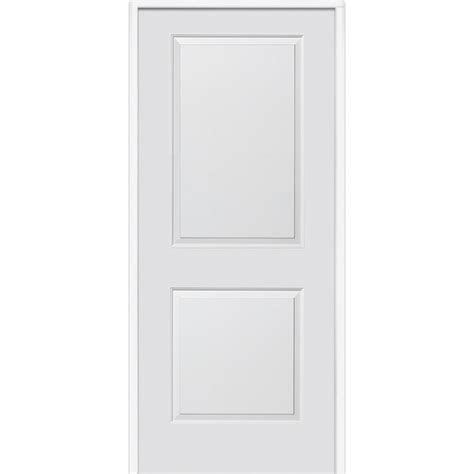 Carrara Interior Door Mmi Door 32 In X 80 In Smooth Carrara Left Primed Mdf 20 Min House To Garage