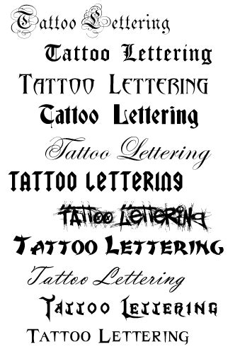 different tattoo fonts fonts style zee post