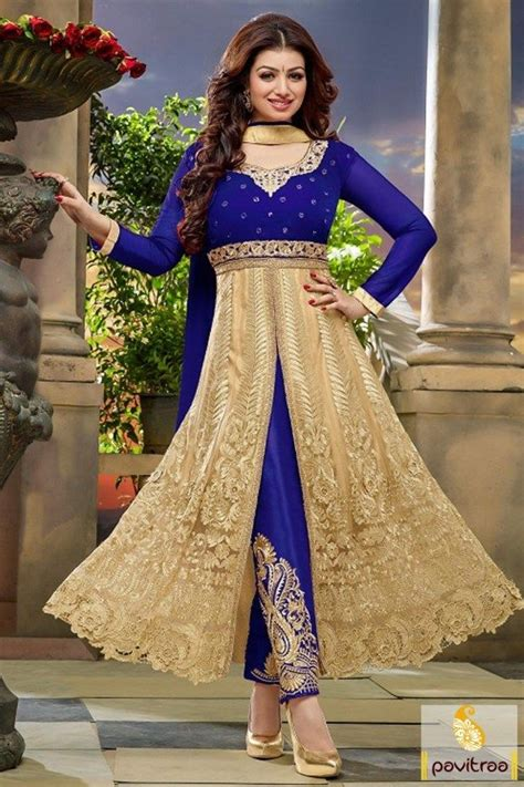 Limited Bolly Top we offer indian heroine ayesha takia special blue color velvet net