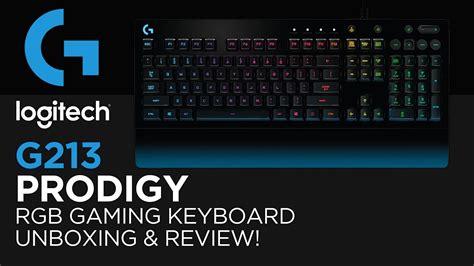 Keyboard Logitech G213 Prodigy logitech g213 prodigy rgb gaming keyboard unboxing