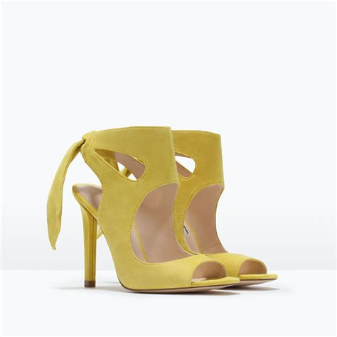 zara heeled sandals zara leather high heeled sandals with bow leather high