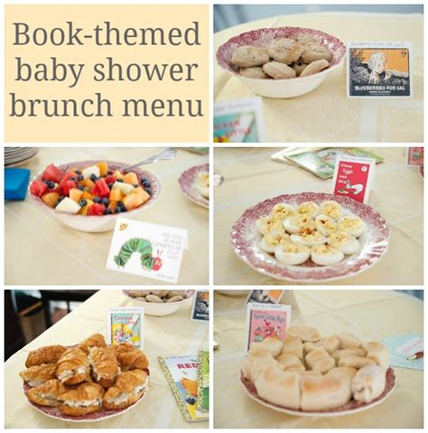 Baby Shower Brunch Menu by Book Themed Baby Shower Brunch See