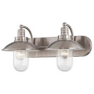 Nickel Bathroom Fixtures Minka Lavery Downtown Edison Brushed Nickel Two Light Bath Fixture On Sale