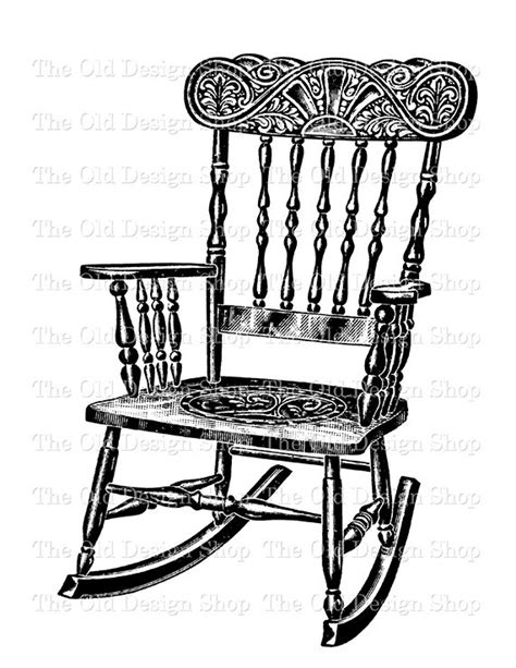 Black And White Rocking Chair by Antique Rocking Chair Digital Printable Clip