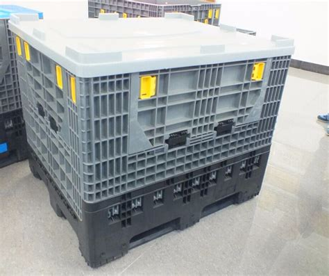 industrial storage container 1200x1000x1000 rackable large plastic storage box