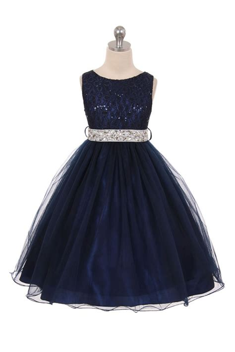 Dress Navy Na 11 royal blue sleeveless shiny tulle flower dress with