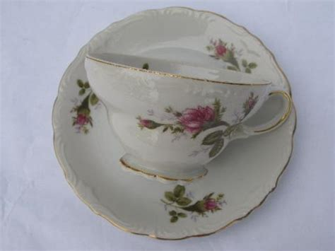 japanese rose pattern china vintage japan china cups saucers old moss rose pattern