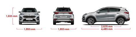 Kia Sportage Dimensions by New Kia Sportage Specifications Features Kia Australia