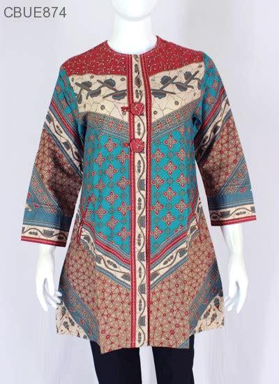 Atasan Tunik Kemeja Batik Jumbo Wanita Shiren atasan wanita tunik batik blarak 9004 blus lengan