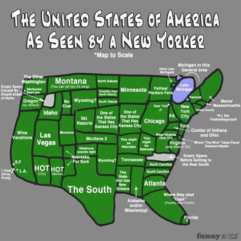 new states map map of the united states according to a new yorker neatorama