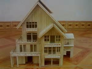 Toothpick House by Diy Tutorial Home Diy Making House By Toothpicks Bead