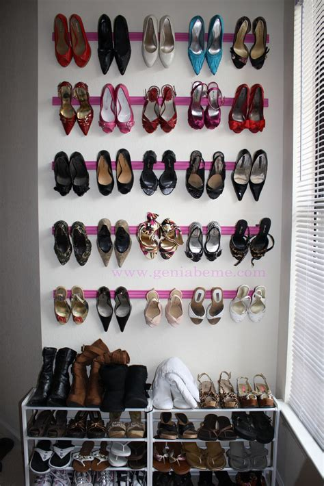 shoes rack diy crown molding shoe rack tutorial geniabeme