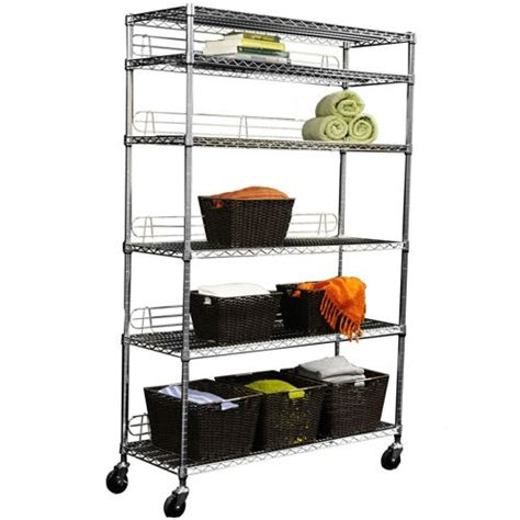 i picked up several of these silver metal wire shelving