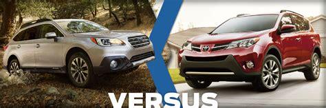 Ballard Toyota 2015 Subaru Outback Vs 2015 Toyota Rav4 Vehicle Comparison