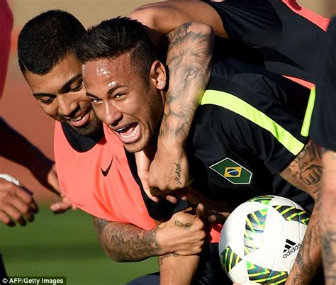 neymar and gabriel jesus show off matching tattoos ahead