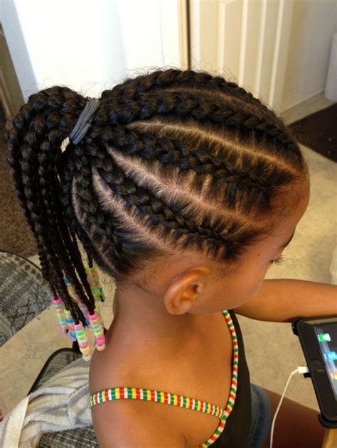 tiny braids cornrows braids hairstyles for little girls layered