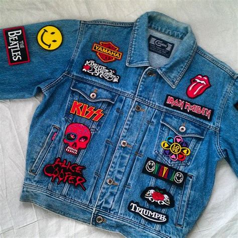 Patches Denim Size Sml patched denim reworked vintage jean jacket with patches patched jean jacket patchwork