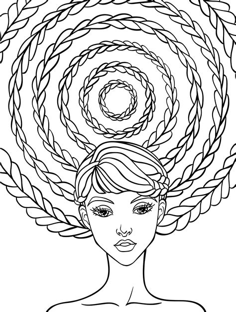 coloring pages hair 10 crazy hair adult coloring pages page 7 of 12 adult