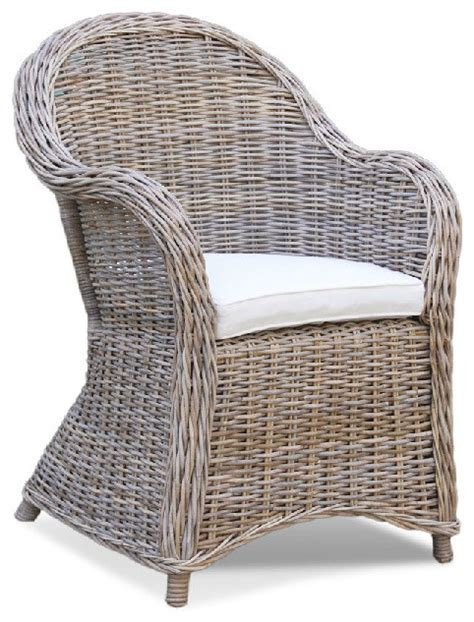 wicker kitchen furniture kubu roma gray woven chair