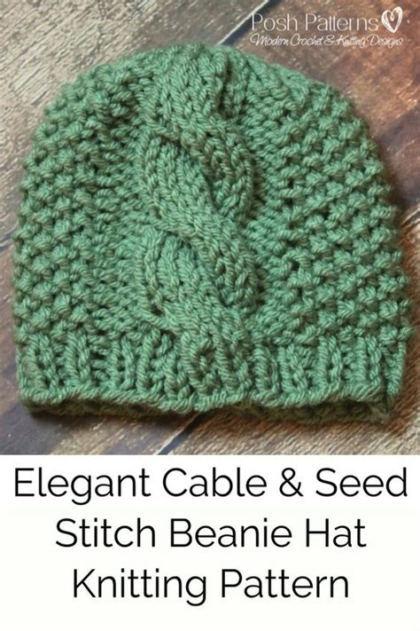 seed stitch knit hat pattern knitting pattern eyelet lace knit hat pattern lace