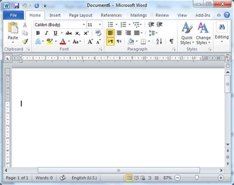 open document in word 2010