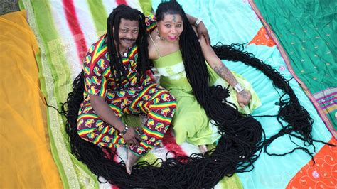 women with worlds longest dreads newly dreads woman with world s longest dreadlocks weds