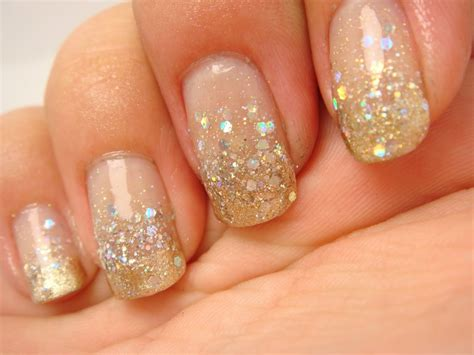Glitter Nail by 30 Gold Glittery Nail Designs Godfather Style