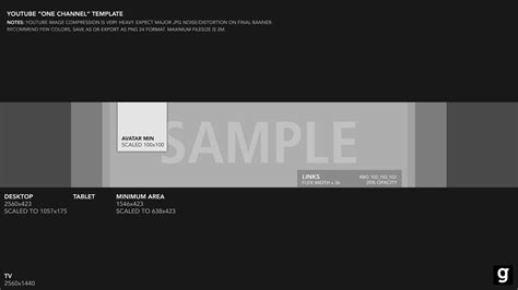 youtube banner template 2015 by garcinga10 on deviantart