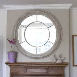 Shabby Chic Large Frame by White Washed Round Mirror Large Round Mirrors Free
