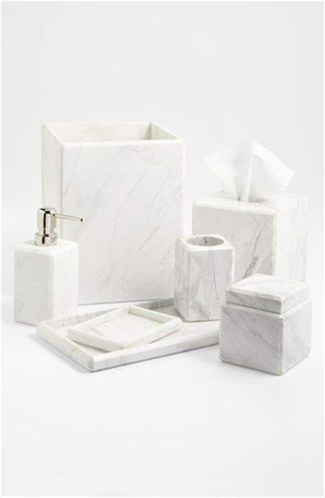 marble bathroom accessories studios jars and countertops on