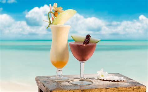 cocktail drinks on the beach wallpaper beach ocean tropics cocktail summer cocktails