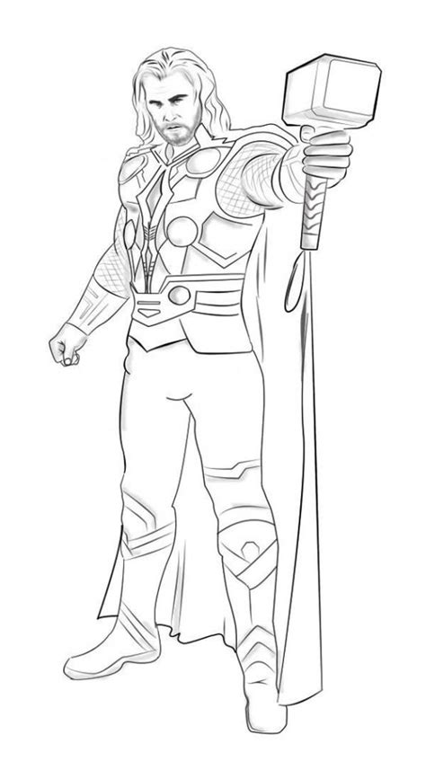 marvel coloring pages thor superhero coloring pages print color craft