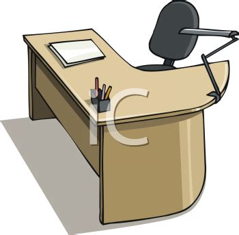 Desk Clipart Office Furniture Pencil And In Color Desk Office Desk Clipart