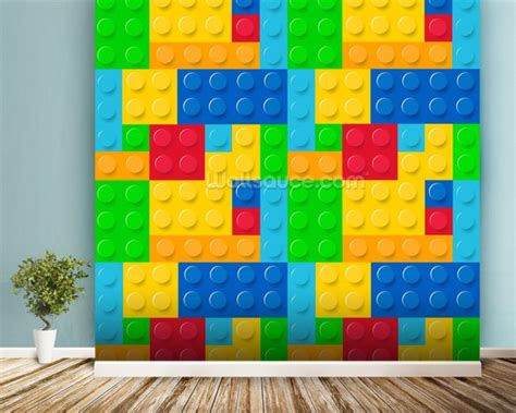 lego wallpaper for room lego effect wallpaper wall mural wallsauce