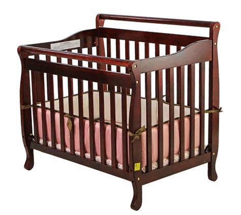 on me baby crib on me 3 in 1 portable convertible crib cherry