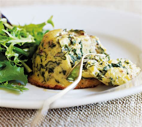 spinach and cheese souffle bigoven 160575 goat s cheese and spinach souffles annabel langbein